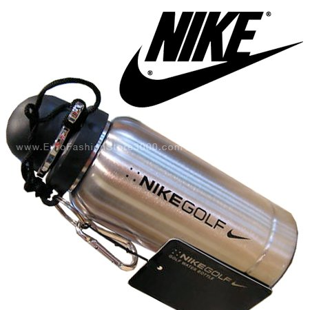 Nike Golf Black Stainless Steel Water Bottle 18.5 Ounce (550ml) NEW