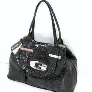 GUESS EM209622 Black Glow Candy G Logo Print Tote Handbag