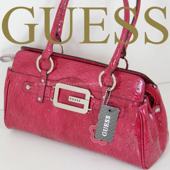 GUESS OP409449 Berry Pink/Fuchsia Saddle Texture Handbag