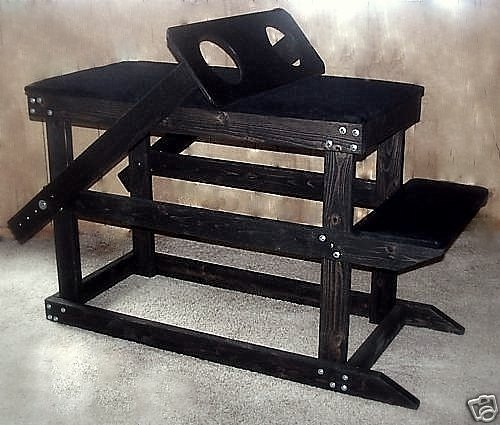4 in 1 Dungeon Fantasy Table with added Prayer Bench/Spanking Table & Thigh Yoke