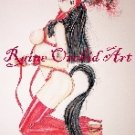 Red Pony Girl Print and Signed