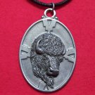 Pewter American Buffalo - Bison Head Tribal Pendant U.S.A.