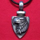 Antiqued Pewter Eagle Spearhead Tribal Pendant Necklace