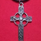 Antiqued Pewter Traditional Celtic Cross Pendant Necklace