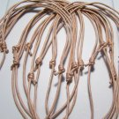 10 Tan Cotton Cord Necklaces No Pendants