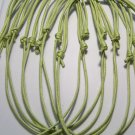 10 Pale Green Cotton Cord Necklaces No Pendants