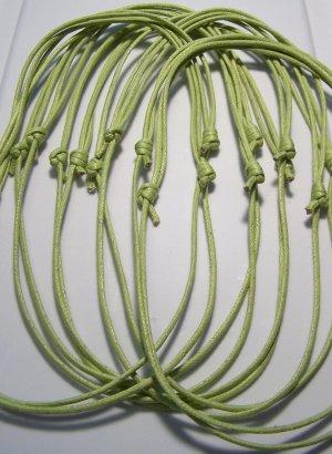 50 Pale Green Cotton Cord Necklaces No Pendants