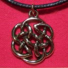 Antiqued Gold Tone Pewter Celtic Knot Design Pendant U.S.A.