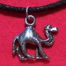 Antiqued Pewter African Desert Camel Pendant Necklace