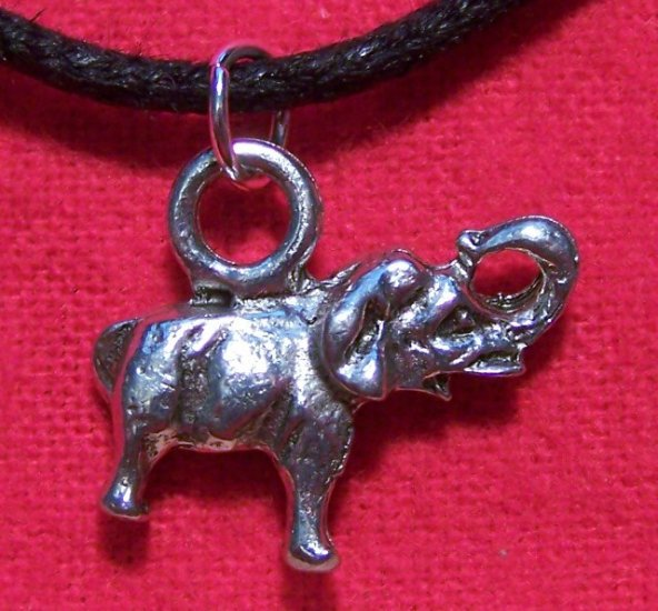 Antiqued Pewter African - Asian Elephant Pendant Necklace