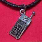 Antiqued Pewter Cell Phone Pendant Necklace Made in U.S.A.