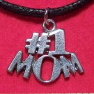 Antiqued Pewter #1 MOM Pendant Necklace Made in the U.S.A.