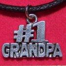 Antiqued Pewter #1 GRANDPA Pendant Necklace U.S.A.