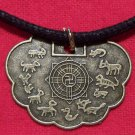 Chinese Protective Talisman Pewter Pendant Necklace