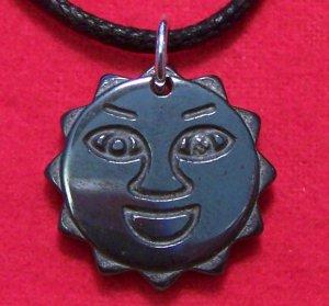 Hemalyke Happy Smiling Sun Face Pendant Necklace