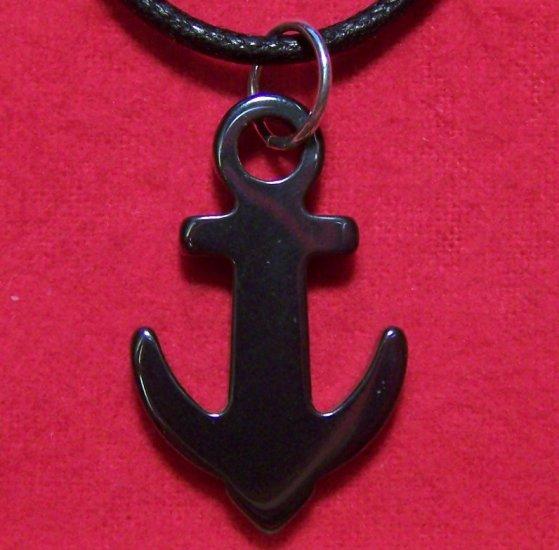 Hemalyke Ship Anchor Seafaring Pendant Cotton Necklace