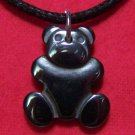 Hemalyke Teddy Bear Pendant Cotton Cord Necklace
