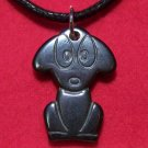 Hemalyke Cute Big Eyed Puppy Dog Pendant Necklace