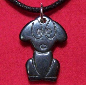 Hemalyke Cute Big Eyed Puppy Dog Pendant Necklace