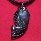 Hemalyke Little Fish Pendant Cotton Cord Necklace