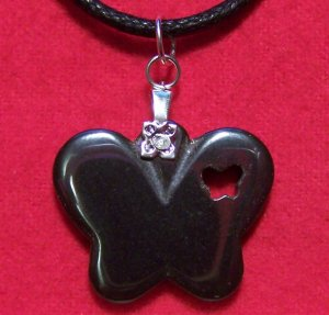 Hemalyke Big Butterfly with Heart Pendant Necklace