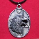 Pewter American Bald Eagle Tribal Pendant Necklace U.S.A.