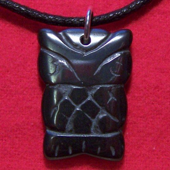Hemalyke Tribal Owl Pendant Cotton Cord Necklace