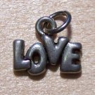 Pewter LOVE Charm Lead Safe Made in the U.S.A.