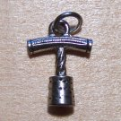 Pewter Corkscrew with Cork Charm Lead Safe Made in U.S.A.