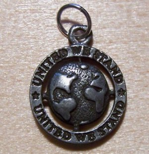 Pewter UNITED WE STAND Charm Made in the U.S.A.