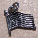 Pewter American Flag Charm Lead Safe Made in the U.S.A.