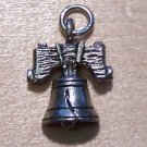 Pewter Liberty Bell Charm Lead Safe Made in the U.S.A.