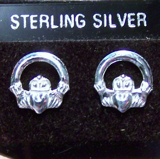 .925 Sterling Silver Love Frog Stud Earrings Made in Thailand