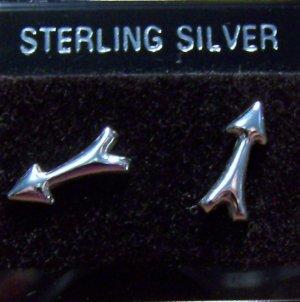 .925 Sterling Silver Arrow Stud Earrings Made in Thailand