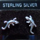 .925 Sterling Silver Lizard Stud Earrings Made in Thailand
