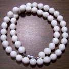 Natural Stone White Marble Necklace Made in the U.S.A.