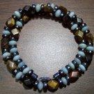 Tigereye, Amazonite & Magnetic Hemalyke Tribal Necklace