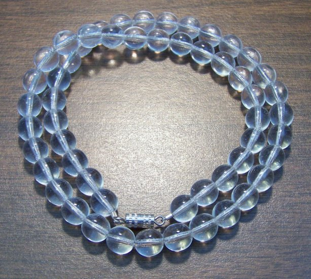 """Natural Stone Clear Quartz 18"""" Necklace Made in the U.S.A."""