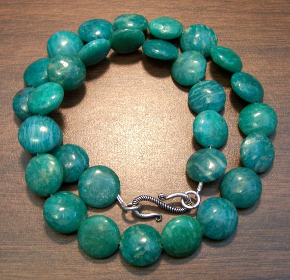 Russian Amazonite Necklace with Sterling Silver Clasp U.S.A.
