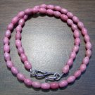 Rhodonite Natural Stone Necklace with Sterling Silver Clasp