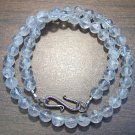 Crackle Quartz Stone Necklace with Sterling Silver Clasp U.S.A.