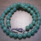 Green Aventurine Necklace with Sterling Silver Clasp U.S.A.