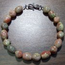 Autumn Jasper Natural Stone Bracelet Sterling Silver Clasp