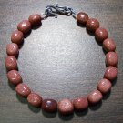 Goldstone Glass Bracelet with Sterling Silver Clasp U.S.A.