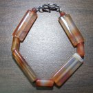 Red Aventurine Tribal Stone Bracelet Sterling Silver Clasp