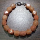 Red Aventurine Faceted Stone Bracelet Sterling Silver Clasp