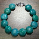 Russian Amazonite Natural Stone Bracelet Sterling Silver Clasp