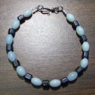 Amazonite & Hemalyke Bracelet with Sterling Silver Clasp