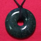 Fancy Jasper Natural Stone Donut Pendant Necklace D12