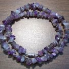 "Amethyst Natural Stone Chip Necklace 18"" Made in U.S.A. asn2"